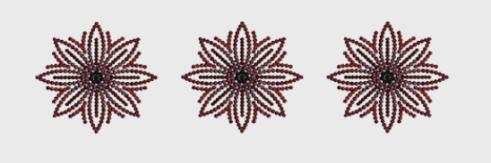 Nr.07 rødsvart sirkler stor ramme