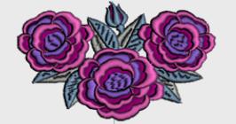 Nr.13 rosebukett liten ramme