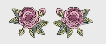 Nr.14 2 roser stor ramme