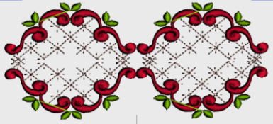 Nr.32 rød bord liten ramme