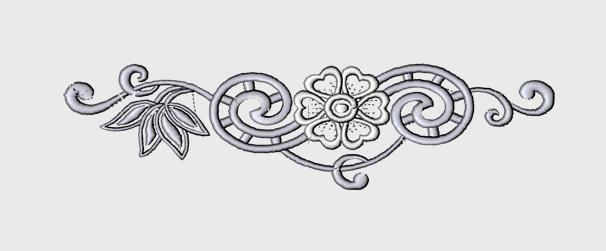 Nr.36 Sølvkrussedull blomst stor ramme