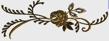 Nr.37 Brun rose liten ramme