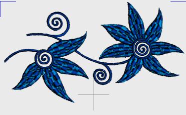 Nr.47 Blå blomster liten ramme