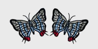 Nr.54 sommerfugl liten ramme