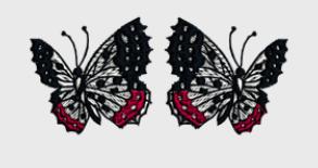 Nr.55 sommerfugl liten ramme