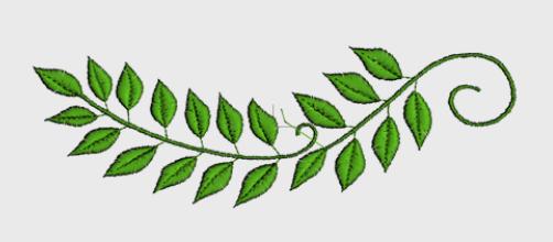 Nr.74 grønne blad stor ramme